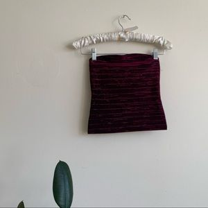 VTG Purple / Black Metallic Crop Tube Top